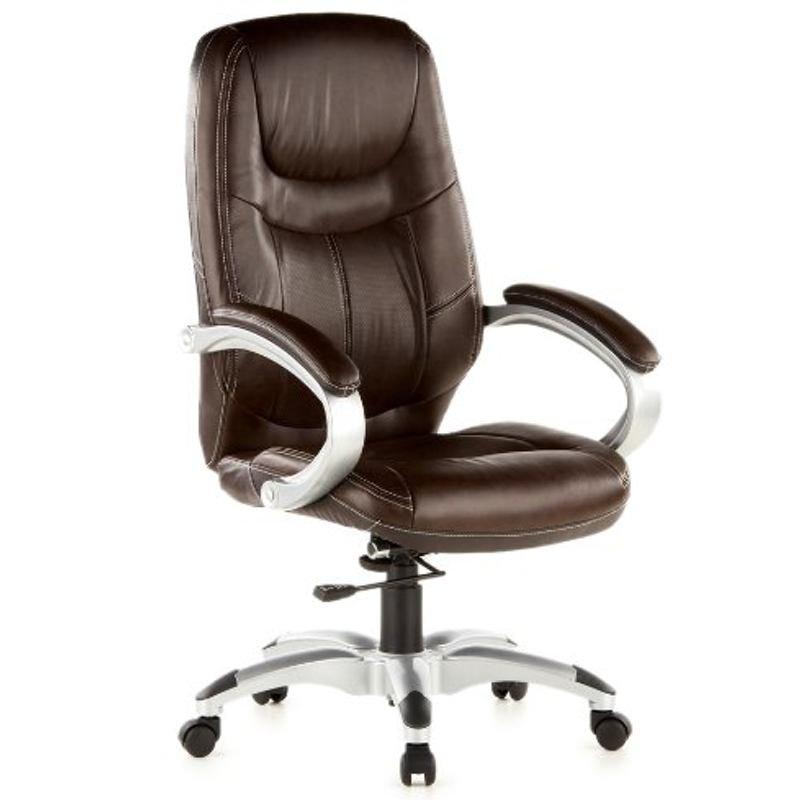 fauteuil de direction triton 100 simili cuir marron. Black Bedroom Furniture Sets. Home Design Ideas